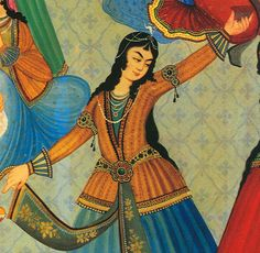 Iranian Traditional Dress - Shots of historical Persian Dance and traditional clothing
