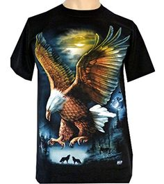 Mens Eagle Wolf Biker Native American Indian People Moon Motorbike T Shirt Graphic Shirts, Printed Shirts, Create T Shirt Design, Eagle Wallpaper, Animal Sweater, Spring T Shirts, Eagle Wings, Animal Graphic, Indian People