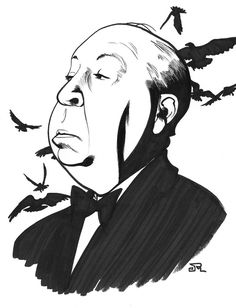Image result for alfred hitchcock cartoon