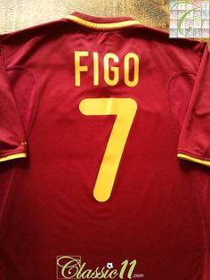 0b47f52d080 2000 01 Portugal Home Football Shirt Figo  7 (M)