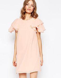 ASOS | ASOS Frill Sleeve Shift Dress at ASOS