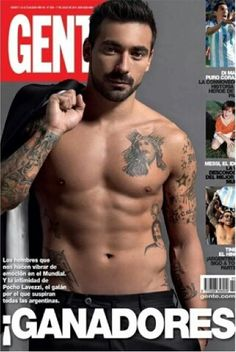 Pocho Lavezzi from Argentina on the cover of Gente magazine. Wish I could get it here in Texas.