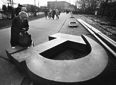 November 1990: Discarded communist symbols from the Soviet Union are left vandalized in the streets of Moscow.