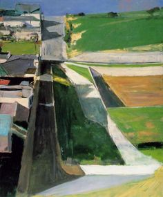Richard Diebenkorn (American, Bay Area Figurative Movement, 1922–1993): Cityscape I (Landscape I), 1963. Oil on canvas. San Francisco Museum of Modern Art, California, USA.  © This artwork may be protected by copyright. It is posted on the site in accordance with fair use principles.