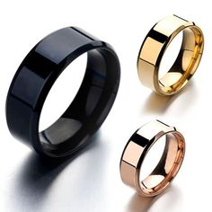 Cheap rings for women, Buy Quality ring for directly from China charm ring Suppliers: 4 Colors Classic Men Ring Polishing Stainless Steel Charm Ring For Women Party Gift Finger Band, Ring Pictures, Charm Rings, Couple Rings, Stainless Steel Rings, Black Rings, Rings For Men, Wedding Rings, Wedding Engagement