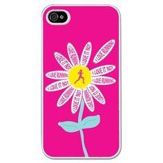 Running iPhone/Galaxy S3 Case Daisy - This customizable protective case is the perfect accessory for any runner's phone. This great Cell Phone Case fits the iPhone 4, iPhone 4S, iPhone 5 and Samsung Galaxy S3. Click and win a Samsung Galaxy S IV #samsung #galaxy #s4