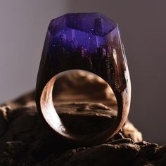 Midnight Purple Forest ring from Secret Wood - These are so pretty! I don't ever wear chunky rings, but WOW!