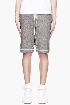 Wings And Horns Mottled Grey Drawstring Tigery Terry Sweatshorts Youre Cute, Patterned Shorts, Horns, Bermuda Shorts, Wings, Grey, Swimwear, How To Make, Stuff To Buy