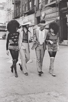 Harlem, 1970's. Boots and Hair!                                                                                                                                                                                 More