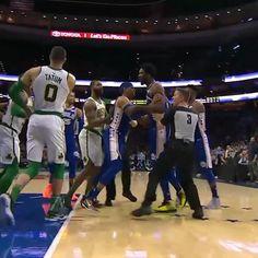 "85629025ca1 SportsCenter on Instagram  ""Marcus Smart shoved Joel Embiid to the floor 😳"""
