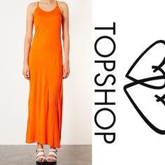 LAST CHANCE TOPSHOP Orange cami maxi dress Topshop Dresses Maxi