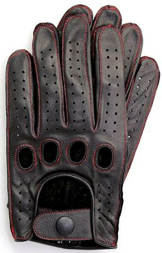 Riparo Genuine Leather Reverse Stitched Full-Finger Driving Gloves - Black/Cognac Thread X-Large Hand Gloves, Men's Gloves, Motorcycle Riding Gloves, Cc Beanie, Driving Gloves, Dress Gloves, Knitted Gloves, Polar Fleece, Safety Gloves