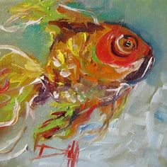 Painting of the Day: Goldfish,fish painting