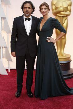 Red Carpet Watch: Oscars 2015 - Alejandro Iñárritu and María Eladia Hagerman