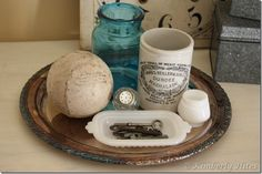 Love this really old baseball! - - shared at the Knick of Time Tuesday Vintage Style Link Party