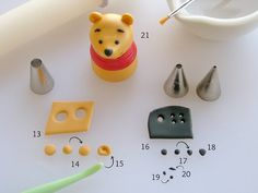 Adding the Details to Fondant Winnie the Pooh