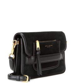 Madison Medium black suede shoulder bag