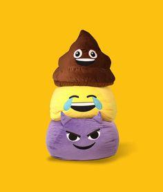 GoMoji™ emoji bean bags! So fluffy and fun!