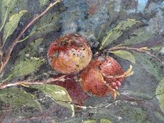 Painted Garden, Villa of Livia, detail with pomegranate by profzucker, via Flickr. Painted Garden, removed from the triclinium (dining room) in the Villa of Livia Drusilla, Prima Porta, fresco, 30-20 B.C.E. (Museo Nazionale Romano, Palazzo Massimo, Rome)