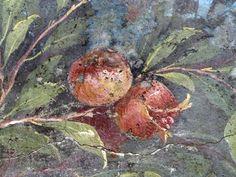 Painted Garden, Villa of Livia, detail with pomegranate by profzucker, via Flickr. Painted Garden, removed from the triclinium (dining room) in the Villa of Livia Drusilla, Prima Porta, fresco, 30-20 B.C.E. (Museo Nazionale Romano, Palazzo Massimo, Rome)