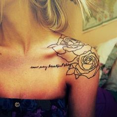 Usually not a big fan of shoulder tattoos on girls, but do like this combination of design and placement.