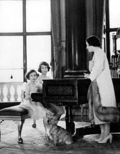 Queen Elizabeth, Princess Elizabeth and Princess Margaret Rose