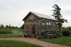 Greenhouse in WA made from salvaged windows