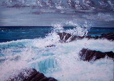 Sea etude Castiglioncello, Acrylic on Canvas, 50 x 70