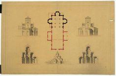 Eglise de Germigny des Près (Loiret) fondée au 9°s: Plan, coupe et élévation, vue perspective par Lisch Jean Juste Gustave (1828-1910)- 47) DEMELES CONJUGAUX DE LOTHAIRE II: ., si elle se comporte comme il convient à une épouse. Le 15 août, le légat célèbre la messe en présence de Lothaire et de Theutberge, tous deux couronnés et revêtus de leurs vêtements royaux. Il repart accompagné de WALDRADE, qu'il doit conduire chez le pape. 866: à peine rentré en Italie, le légat ARSENE perd sa…
