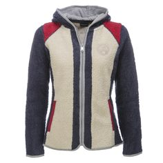 Napapijri, Yupik, Fleece Ski-Vest, Women, Multicolour blue-red-white  Women's full zip, hooded Sherpa fleece jacket This fleece vest is ideal to wear as a mid-layer, underneath your jacket. Due to the casual design it is also perfectly suitable for during the après ski.