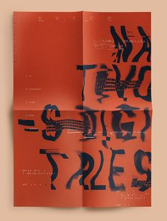 Nativos Digitales | Desplegable Tipográfico by Florencia Fuertes, via Behance