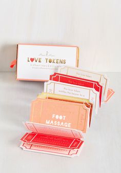 These would make a very sweet Valentine's Day gift :: Love Tokens