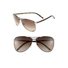 Gucci 62mm Metal Aviator Sunglasses