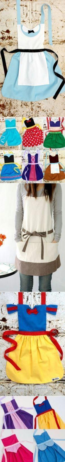 Alice in Wonderland Disney Princess inspired Child Costume Apron PDF sewing Patter. Girls sizes 2-8 Dress up
