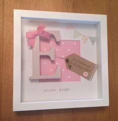 Personalised New Baby, Birth, Christening, Boy & Girl Frames Gift/Keepsake Christening Frames, Christening Gifts, Box Frame Art, Box Frames, Frames Ideas, Frame Shop, Wooden Frames, New Baby Crafts, Diy And Crafts