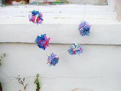 https://www.etsy.com/uk/listing/158851840/rainbow-rag-pom-pom-garland?ref=shop_home_active #pompom #garland #etsy #upcycling