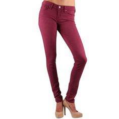 Florida State Seminoles (FSU) Ladies Colored Skinny Jeans - Garnet