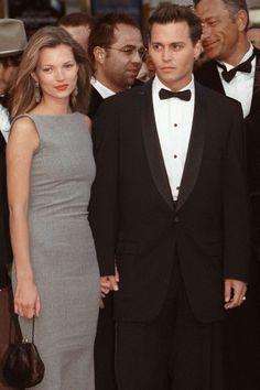Kate Moss with then boyfriend Johnny Depp - HarpersBAZAAR.com