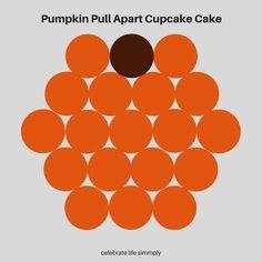 Halloween Desserts, Halloween Cupcakes, Halloween Food For Party, Halloween Foods, Cupcake Template, Cake Templates, Pull Apart Cupcake Cake, Pull Apart Cake, Cupcake Cake Designs