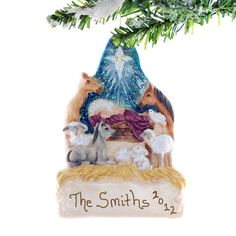 Manger Christmas Ornament  personalized by Christmaskeeper on Etsy, $13.95