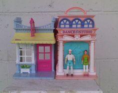 Fisher Price Sweet Streets Candy Shop Dance Studio Dollhouse & Dolls #FisherPrice