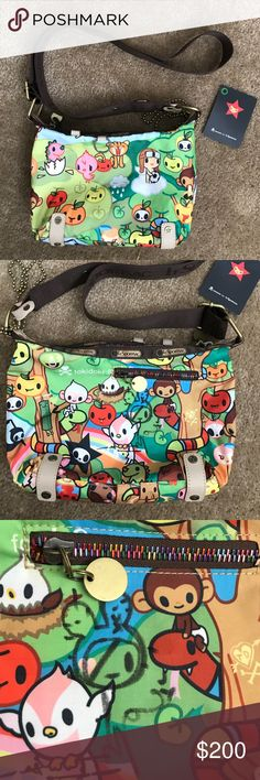 Tokidoki LeSportsac Foresta Bambinone signed bag Rarely used Tokidoki by LeSportsac bambinone style bag in Foresta print. Signed by Simone Legno ( see third photo) very clean, excellent condition. Comes with carabiner and ball chain. Missing Qee. tokidoki Bags Crossbody Bags