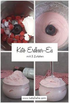 Erdbeereis ohne Eismaschine mit 3 Zutaten #Erdbeereis #Erdbeeren #Eismaschine