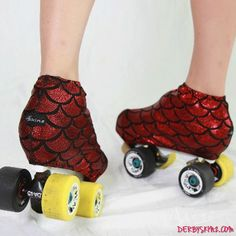 Life's too short to have plain skates. Give your roller derby skates colorful personality with boot covers.
