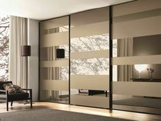 Mirrored Glass Wardrobe With Sliding Doors Mixed With Grey Carpet On  Laminated Floor With Mirrored Sliding Closet Doors For Bedrooms Also Closets  With Doors