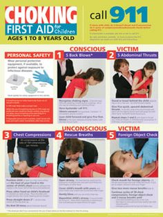 Informative and Simple Emergency Aid for Children Poster: Children's Choking Poster  $12.95