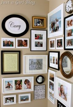 Gallery Wall - love the 'family' in the frame from the beach
