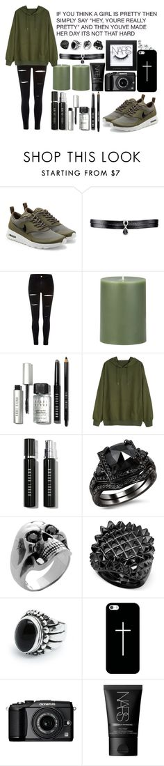 """YOU'RE REALLY PRETTY."" by regina20-2002 ❤ liked on Polyvore featuring NIKE, Fallon, River Island, Crate and Barrel, Bobbi Brown Cosmetics, Manuel Bozzi, Casetify, Olympus and NARS Cosmetics"