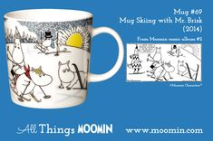 The new Moomin Winter Mug of 2014 - Skiing with Mr Brisk - is now for sale! Moomin Mugs, All Things, Skiing, Childhood, History, Winter, Troll, Den, Paint