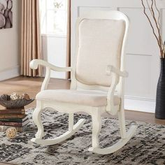 High Quality Acme Furniture Sharan Rocking Chair   Solid, Antique White